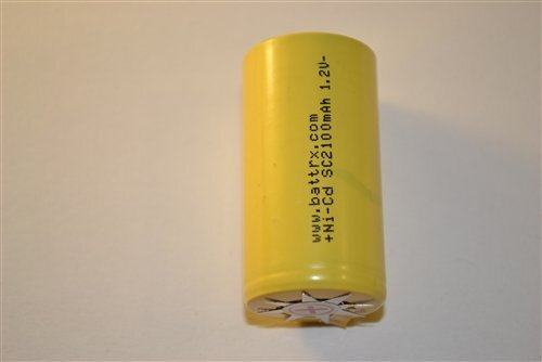 Single NiCad No Solder Sub C Repair Cell