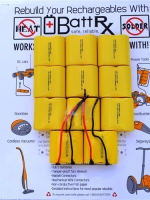 Battrx 24V NiCad Rechargeable Battery Repair Kit