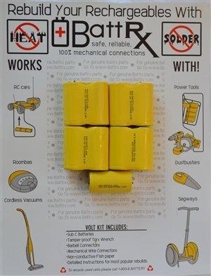 Black & Decker 10.8V NiCad Rechargeable Battery Rebuild Kit