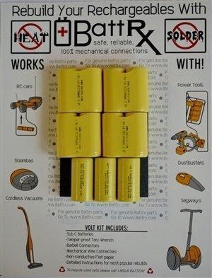Black & Decker 13.2V NiCad Rechargeable Battery Rebuild Kit