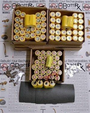 Battrx Contractor Packs - Rebuild Ten 18V NiMH Battery Packs