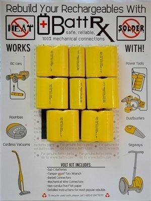 DeWalt 16.8V NiCad Rechargeable Battery Rebuild Kit