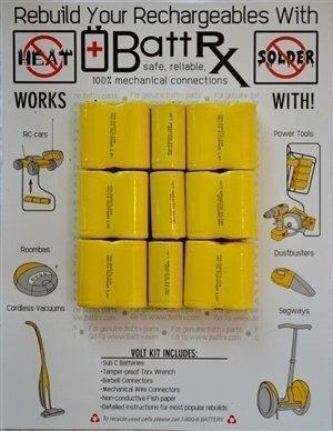 Greenlee 18V NiCad Rechargeable Battery Rebuild Kit