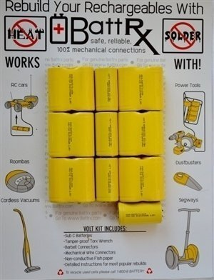 Sears Craftsman 19.2V NiCad Rechargeable Battery Rebuild Kit