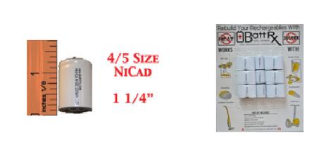 4/5 size NICAD Battery Rebuild